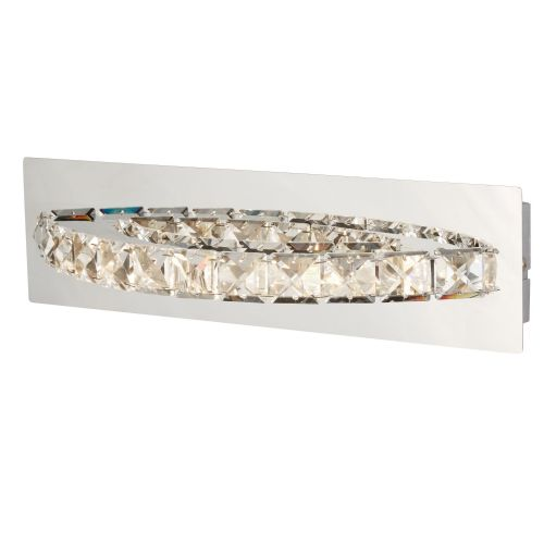 Clover Led Curved Wall Bracket, Clear Crystal, Chrome (Double Insulated) Bx6002Cc-17